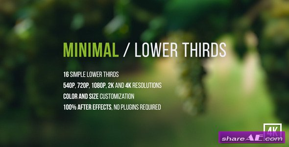 Minimal / Lower Thirds - Videohive