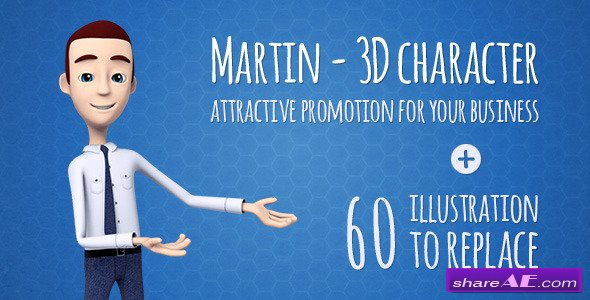 Martin 3D Character - Promo/Explainer - Videohive