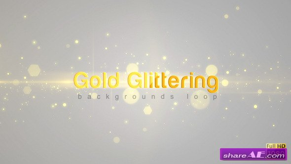 Gold Glittering - Motion Graphics (Videohive)