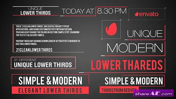 21 Modern Lower Third - Videohive