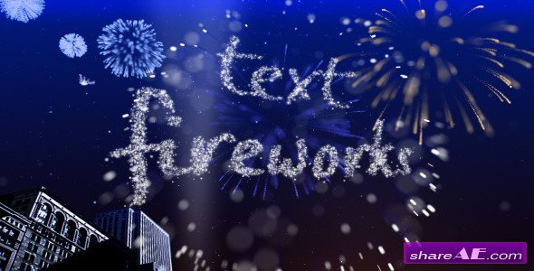 Text Fireworks - Videohive
