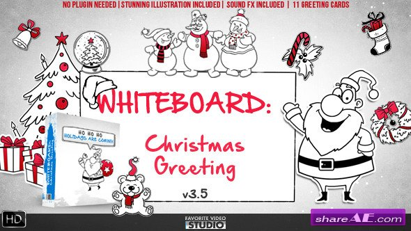 Holidays Whiteboard Greetings Pack - Videohive