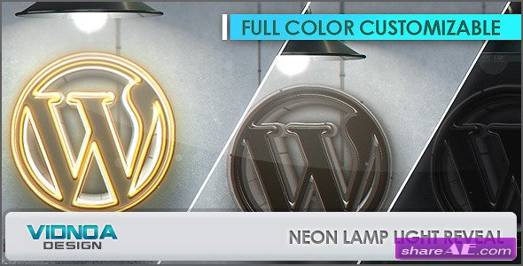 Neon Lamp Light Reveal - Videohive