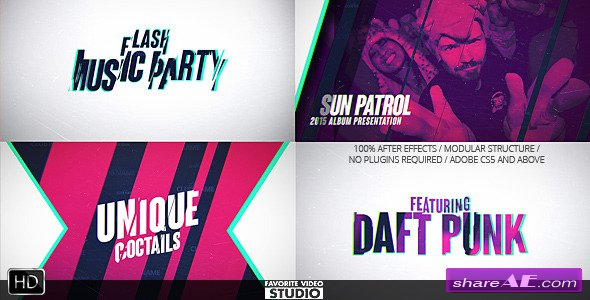 Videohive Flash Music Event