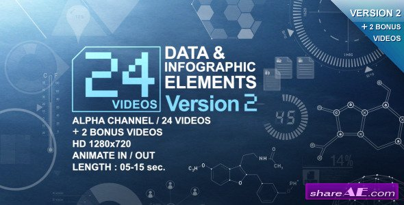 24 Videos Data & Infographic Elements V.2 - Motion Graphic (Videohive)