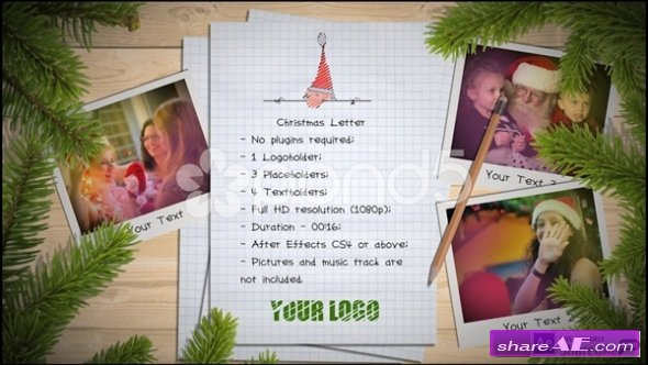 Christmas Letter - After Effects Templates (Pond5)
