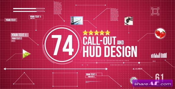74 Call-Out and Hud Design Pack - Videohive