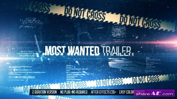 Most Wanted Trailer - Videohive