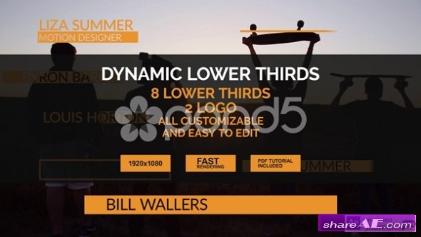 Dynamic Lower Thirds - After Effects Templates (Pond5)