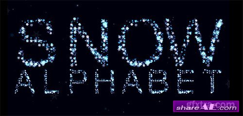 Snow Alphabet - After Effects Template (Pond5)