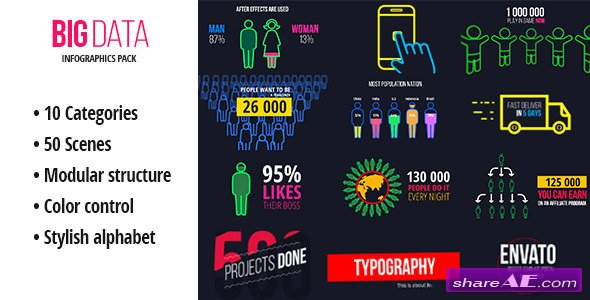 BigData - Ultimate Infographics Pack - Videohive