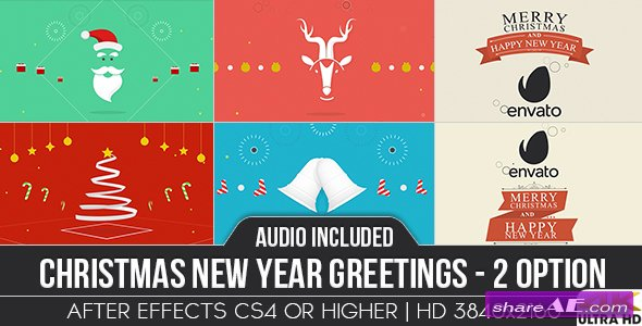 Christmas New Year Greetings - Videohive