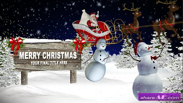 Magical Christmas Night - After Effects Template (Pond5)