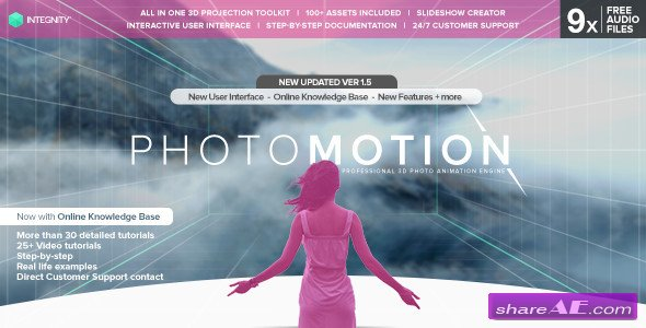 Photomotion Professional 3d Photo Animator Videohive Page 3 Free After Effects Templates After Effects Intro Template Shareae