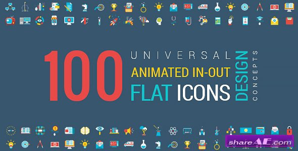 Animated Flat Icons and Concepts Pack - Videohive