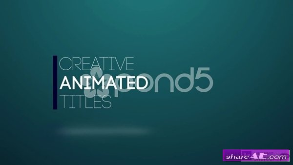 Title Animation - After Effects Template (Pond5) » Free After ...