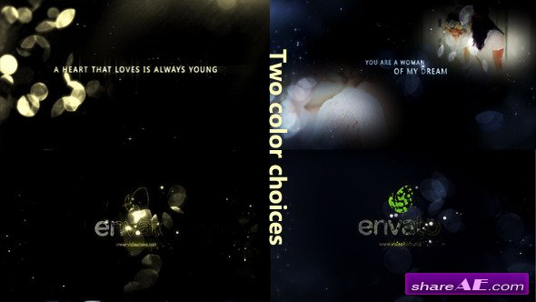 Gold Particle and Memories Typography - Videohive