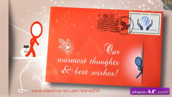 Inkman Christmas Holiday card - Videohive