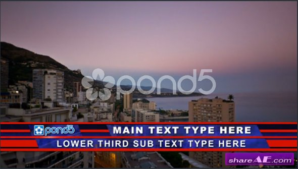 Trasperant Line Lower Third - After Effects Template (Pond5)