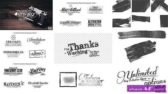 70 Grunge Titles & Logo Pack, Brush Toolkit - Videohive