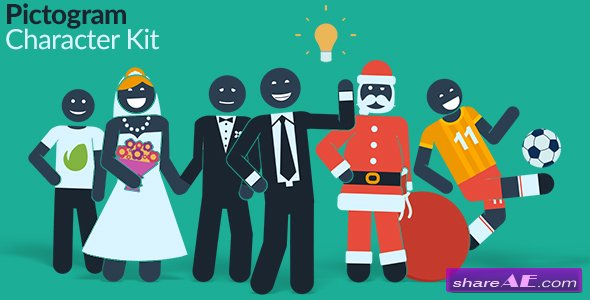 Pictogram Character Kit - Videohive