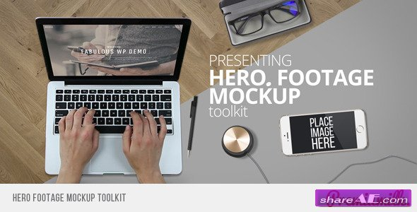 Hero Footage Mockup Toolkit - Videohive