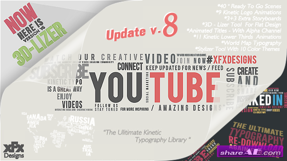 Kinetic Typography Pack Version 8 - After Effects Project (Videohive)