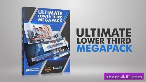 20 Lower Thirds Mega Pack - After Effects Template (Bluefx)