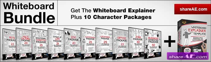 The Whiteboard Bundle - After Effects Template (Bluefx