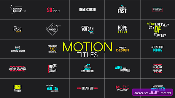 Motion Titles - Videohive