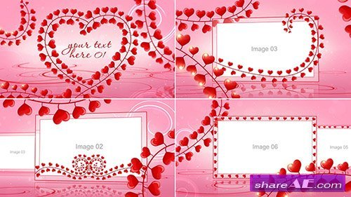 Romantic Hearts Love Slideshow - After Effects Template (Pond5)