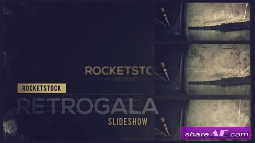 Retrogala Grungy Slideshow - After Effects Project (Rocketstock)