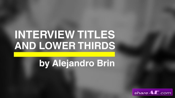 Interview Titles - Videohive