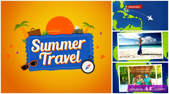 Summer Travel Map Gallery - Videohive