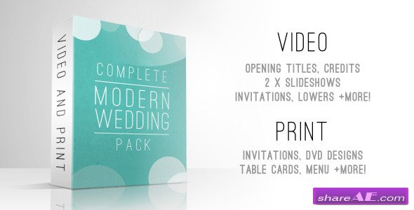 Complete Modern Wedding Pack - Videohive