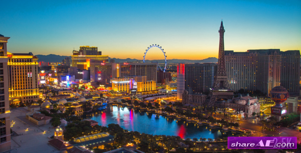Las Vegas Night to Day - Stock Footage (Videohive)