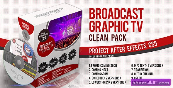 Broadcast Graphic Tv Clean Pack - Videohive