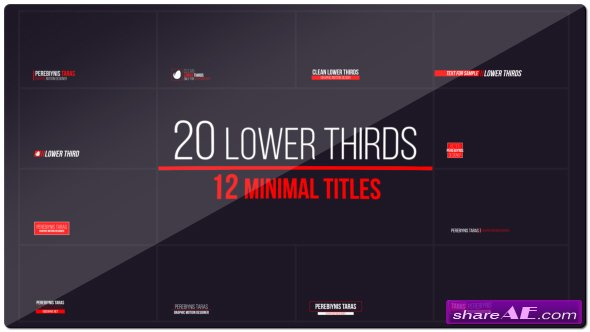 20 Lower Thirds and 12 Titles - Videohive