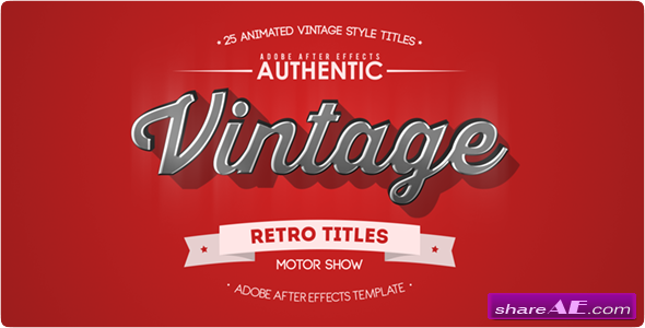 25 animated vintage titles videohive free after for Adobe after effects title templates free