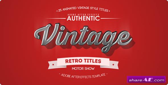 25 Animated Vintage Titles - Videohive