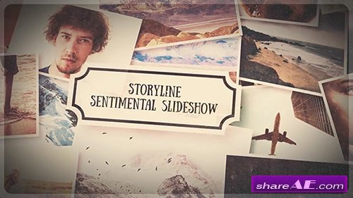 Storyline - Sentimental Slideshow - After Effects Project (Rocketstock)