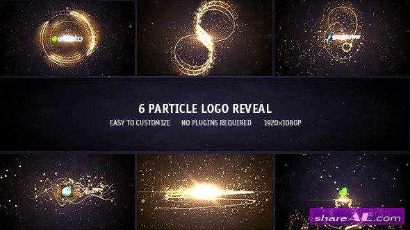 Particle Logo Reveal Pack 6in1 - Videohive