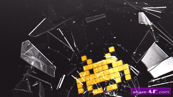 Videohive Breaking Glass Logo - After Effects Template