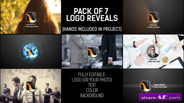 Videohive Pack of Hand Logo - After Effects Templates