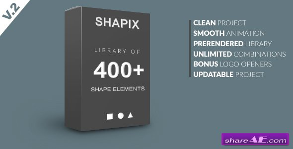 Videohive Shapix - Shape Elements Pack - After Effects Templates