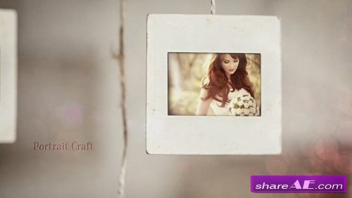 portrait craft wedding slideshow after effects project
