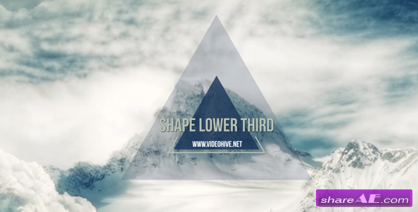 Videohive Shape Lower Third - After Effects Templates