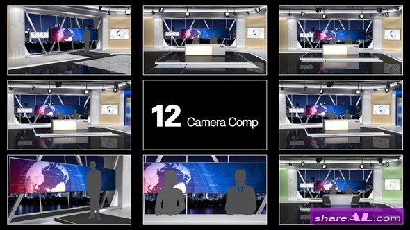 Videohive NewsStudio 100 - After Effects Templates