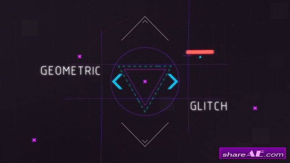 Videohive Geometric Glitch Intro 2 - After Effects Templates