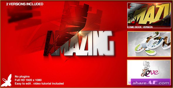Videohive Superhero Logo - After Effects Templates